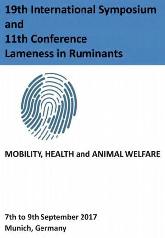 Lameness in Ruminants - International Symposium and Conference - Germany, 2017
