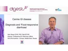 VETtube GI disorders in dogs - Diagnosis and 'Food-responsive diarrhoea'